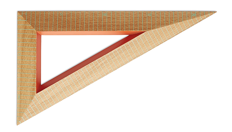 Wooden Ruler Triangle mint